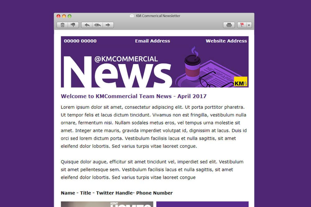 KMCommerical Newsletter Template