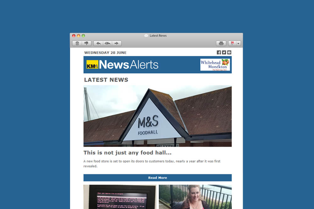 KM News Alerts Email Template